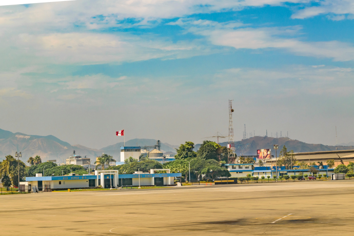 Jorge Chavez International Airport serves Lima, the capital of Peru.